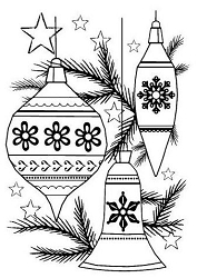 Woodware Craft - Clear Stamp - Classic Baubles