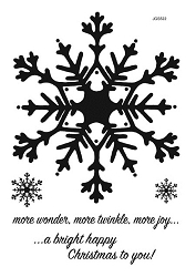 Woodware Craft - Clear Stamp - Huge Snowflake
