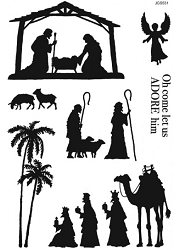 Woodware Craft - Clear Stamp - Nativity Silhouette