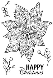 Woodware Craft - Clear Stamp - Doodle Poinsettia