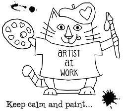 Woodware Craft - Clear Stamp - Van Cat