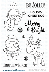 Your Next Stamp - Clear Stamp - Merry & Bright