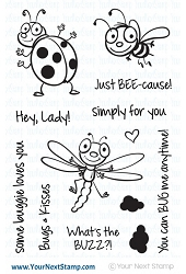 Your Next Stamp - Clear Stamp - Bugs & Kisses