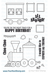 Your Next Stamp - Clear Stamp - All Aboard