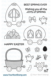 Your Next Stamp - Clear Stamp - All Aboard Spring Carts