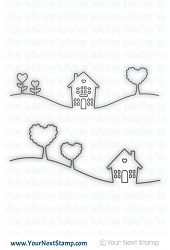 Your Next Stamp - Dies - Home Is Where the Heart Is