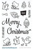 Your Next Stamp - Clear Stamp - Merry Christmas Chickie