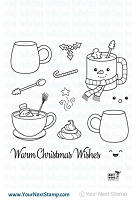 Your Next Stamp - Clear Stamp - Warm Christmas Wishes