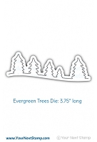 Your Next Stamp - Dies - Evergreen Tree Border