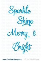 Your Next Stamp - Dies - Scripty Holiday Words