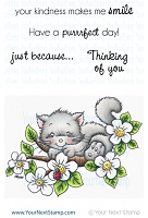 Your Next Stamp - Clear Stamp - Summer Blossom Fluffy Kitty