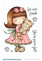 Your Next Stamp - Clear Stamp - Jessica with her Kitty