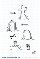 Your Next Stamp - Clear Stamp - Halloween Graveyard