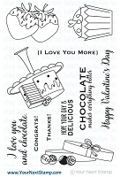 Your Next Stamp - Clear Stamp - I Love Chocolate