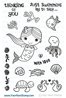 Your Next Stamp - Clear Stamp - Just Swimming By Mermaid