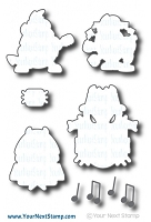 Your Next Stamp - Dies - Silly Monsters Rockstars