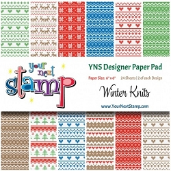 Your Next Stamp - 6x6 Paper Pad - Winter Knits