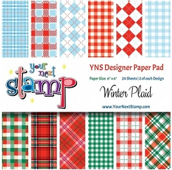 Your Next Stamp - 6x6 Paper Pad - Winter Plaids