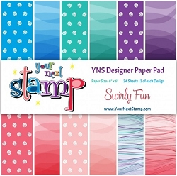 Your Next Stamp - 6x6 Paper Pad - Swirly Fun