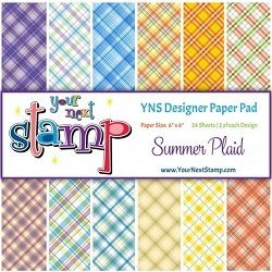 Your Next Stamp - 6x6 Paper Pad - Summer Plaid