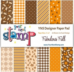 Your Next Stamp - 6x6 Paper Pad - Fabulous Fall