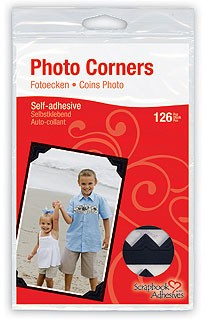 3L Scrapbook Adhesives - Paper Photo Corners - Classic Black (108 pcs)