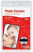 3L Scrapbook Adhesives - Paper Photo Corners - Classic Silver (126 pcs)