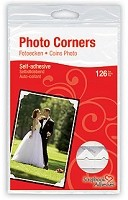 3L Scrapbook Adhesives - Paper Photo Corners - Classic White (108 pcs)