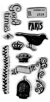 Hampton Art - 7 Gypsies - Bird Song Cling Mounted Rubber Stamps