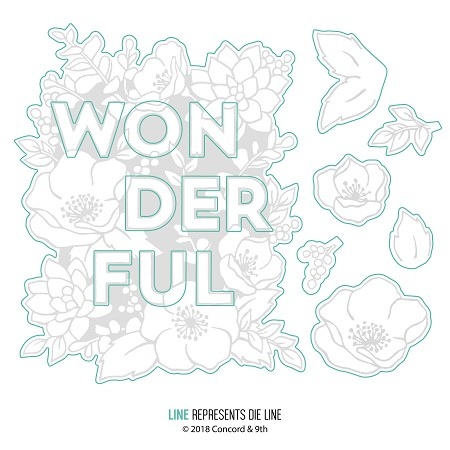 Concord & 9th - Die - Wonderful Florals