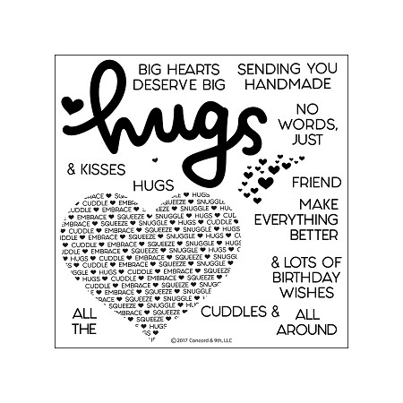 Concord & 9th - Clear Stamp - Cuddles & Hugs