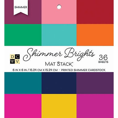 "Die Cuts With A View - 6""x6"" Paper Pad - Shimmer Brights Cardstock Stack"