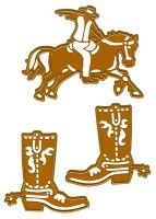 Joy Crafts - Cutting & Embossing Die - Wild West Cowboy and Cowboy Boots