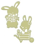 Joy Crafts - Cutting & Embossing Die - Spring Rabbits
