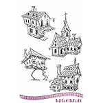 Katzelkraft - A5 Unmounted Rubber Stamp Sheet - Les maisons (Houses) (5.5