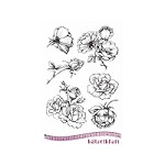 Katzelkraft - A5 Unmounted Rubber Stamp Sheet - Les Roses (Roses) (5.5