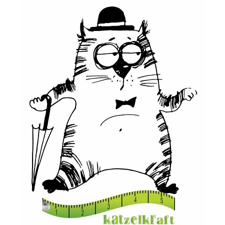 Katzelkraft - Solo Unmounted Rubber Stamp - Les Gros Chats (Fat Cats) Charlot