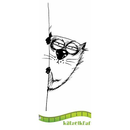 Katzelkraft - Solo Unmounted Rubber Stamp - Les Gros Chats (Fat Cats) Ignace