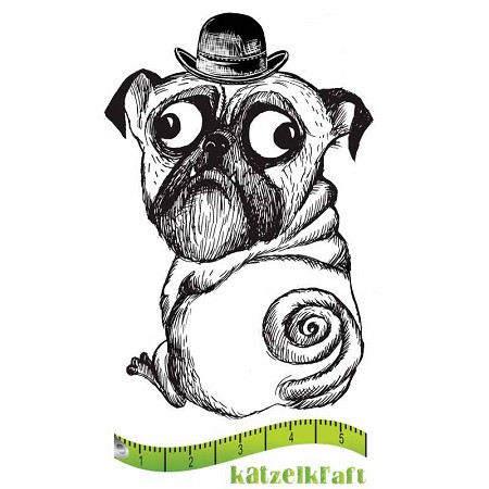 Katzelkraft - Solo Unmounted Rubber Stamp - Chien (Dog) Booly