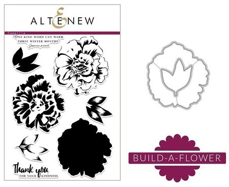 Altenew - Clear Stamps & Die bundle - Camellia Build-a-Flower