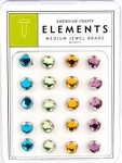American Crafts Medium Jewel Brads - Brights