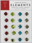 American Crafts Medium Jewel Brads - Merrymint