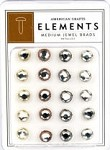 American Crafts Medium Jewel Brads - Metallics