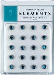 American Crafts Mini Jewel Brads - Aqua
