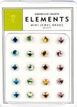 American Crafts Mini Jewel Brads - Brights