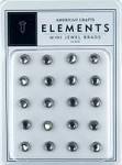 American Crafts Mini Jewel Brads - Clear