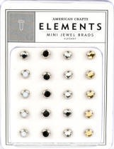 American Crafts Mini Jewel Brads - Elegant