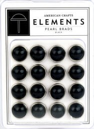 American Crafts Pearl Brads - Black