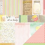 "American Crafts - Dear Lizzy Neapolitan  12""x12"" Paper - Cheerful Notes"