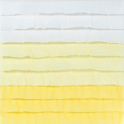 "American Crafts - Dear Lizzy Neapolitan  12""x12"" Paper - Endless Summer - Stitched Ruffle Crepe Paper (White & Yellow)"